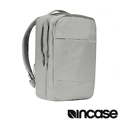 INCASE City 格紋耐磨城市雙層後背包(鑽石銀/15吋內筆電適用)