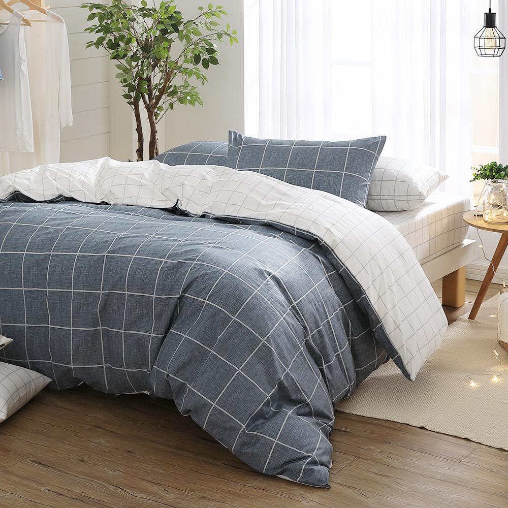 GOLDEN-TIME-去夢裡下棋-100%純棉兩用被床包組(加大)+贈1被1毯