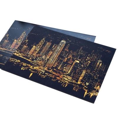 LAGO 手刮城市金色夜景手刮畫(附刮棒)-香港