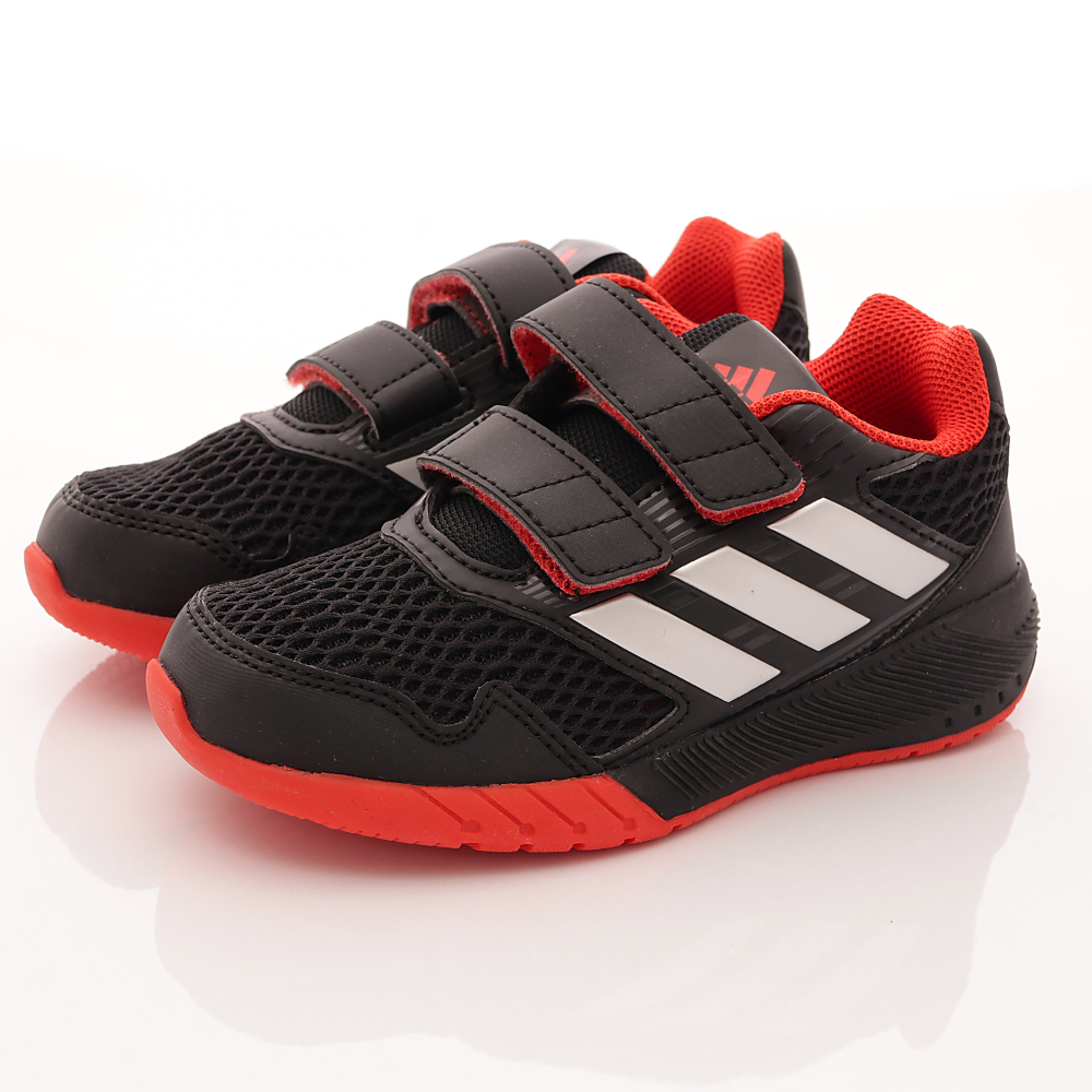 adidas童鞋-網狀透氣慢跑鞋款-SE424黑(小童段)HN