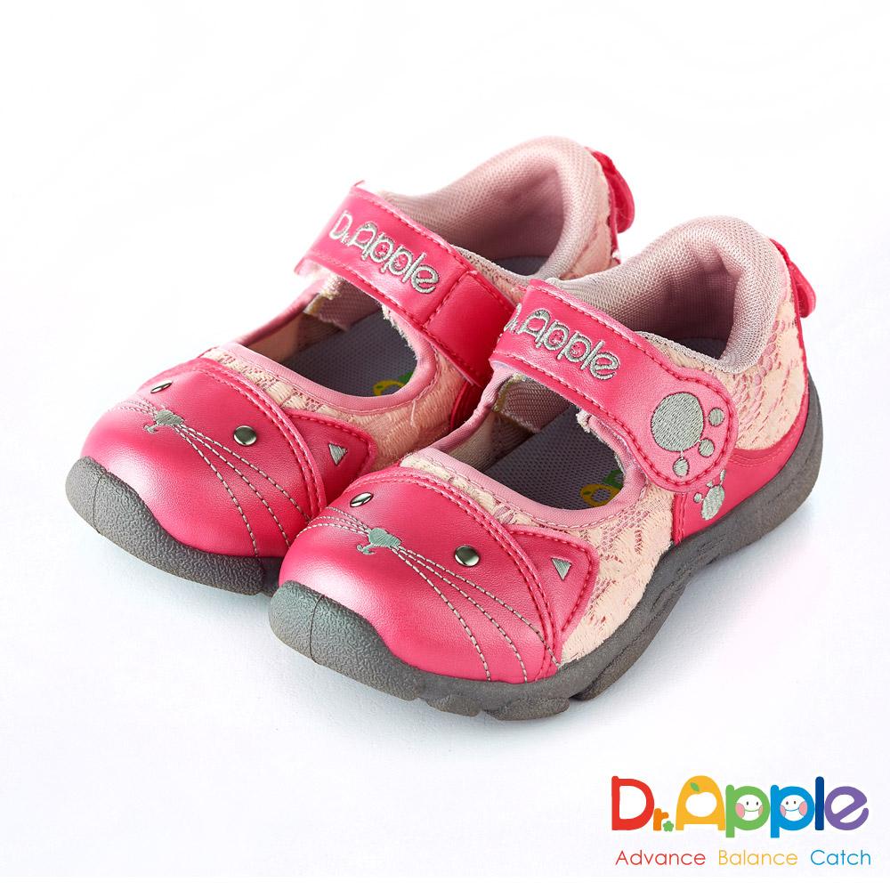 Dr. Apple 機能童鞋 可愛喵咪透氣涼童鞋款  粉