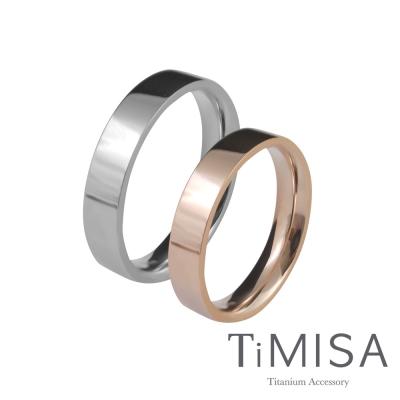 TiMISA 簡約時尚-細版(雙色) 純鈦對戒