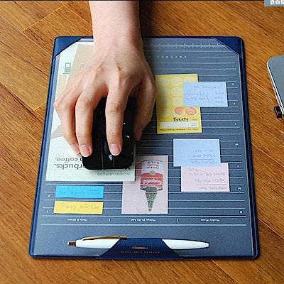 韓版簡約分層計畫板滑鼠墊-藍(EB-E13-2)