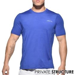 P.S簡約風格快乾型健身路跑運動短袖T恤(藍色)-動態show