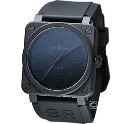 Bell & Ross 飛鷹戰士自動機械陶瓷腕錶-黑色/42mm