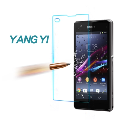 YANG YI 揚邑 Sony Xperia Z1C 防爆防刮防眩弧邊9H鋼化玻...