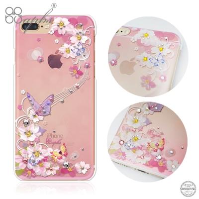 apbs iPhone8/7 Plus 5.5吋施華洛世奇彩鑽手機殼-迷蝶香
