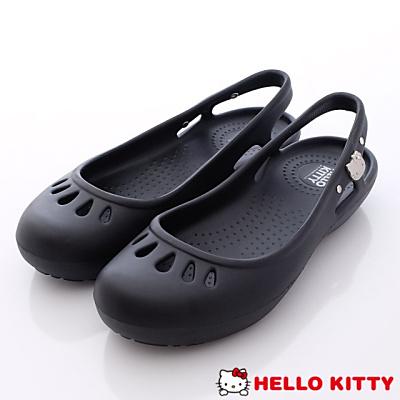 Hello Kitty-凱蒂縷空便鞋款-NI16122黑(女段)