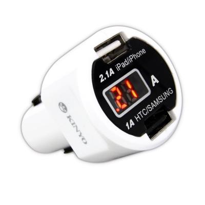 KINYO車用電流顯示USB充電器CU30