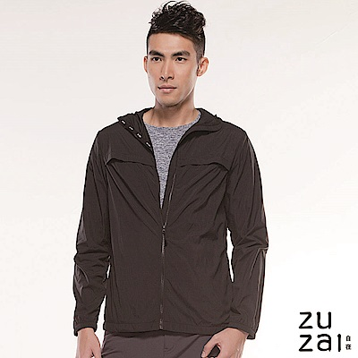 zuzai 自在親膚透氣防潑水風衣-男-黑色