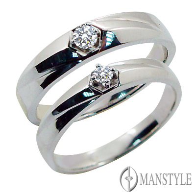MANSTYLE DIAMOND「今生相伴」南非天然鑽石對戒