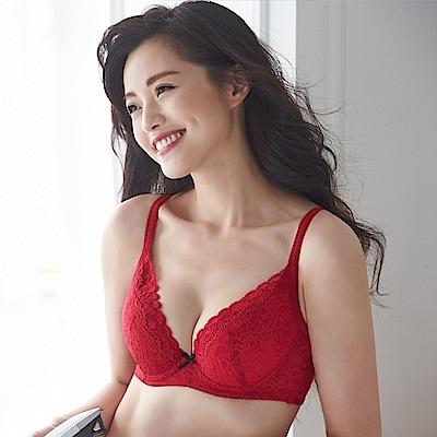 蕾黛絲-順型靠過來D-E罩杯內衣-美艷紅