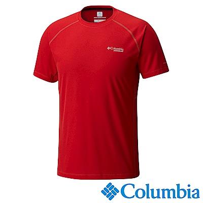 Columbia 哥倫比亞 男款-野涼感快排短袖上衣-紅色 (UAE13070RD)