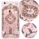 KnowStar APPLE IPhone6+/6S Plus奧地利水晶手機鑽殼-懷錶兔