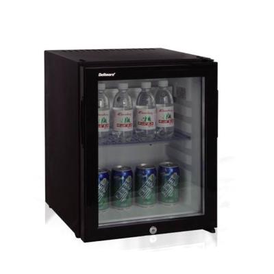 Dellware玻璃門吸收式無聲客房冰箱30L (DW-30T)