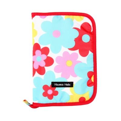 日本Hanna Hula-多用途手冊包-親子手冊/健保卡等(花樣紅)