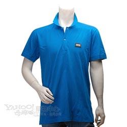 DOLCE & GABBANA D&G標牌立領素面短袖POLO衫(藍色-52號)
