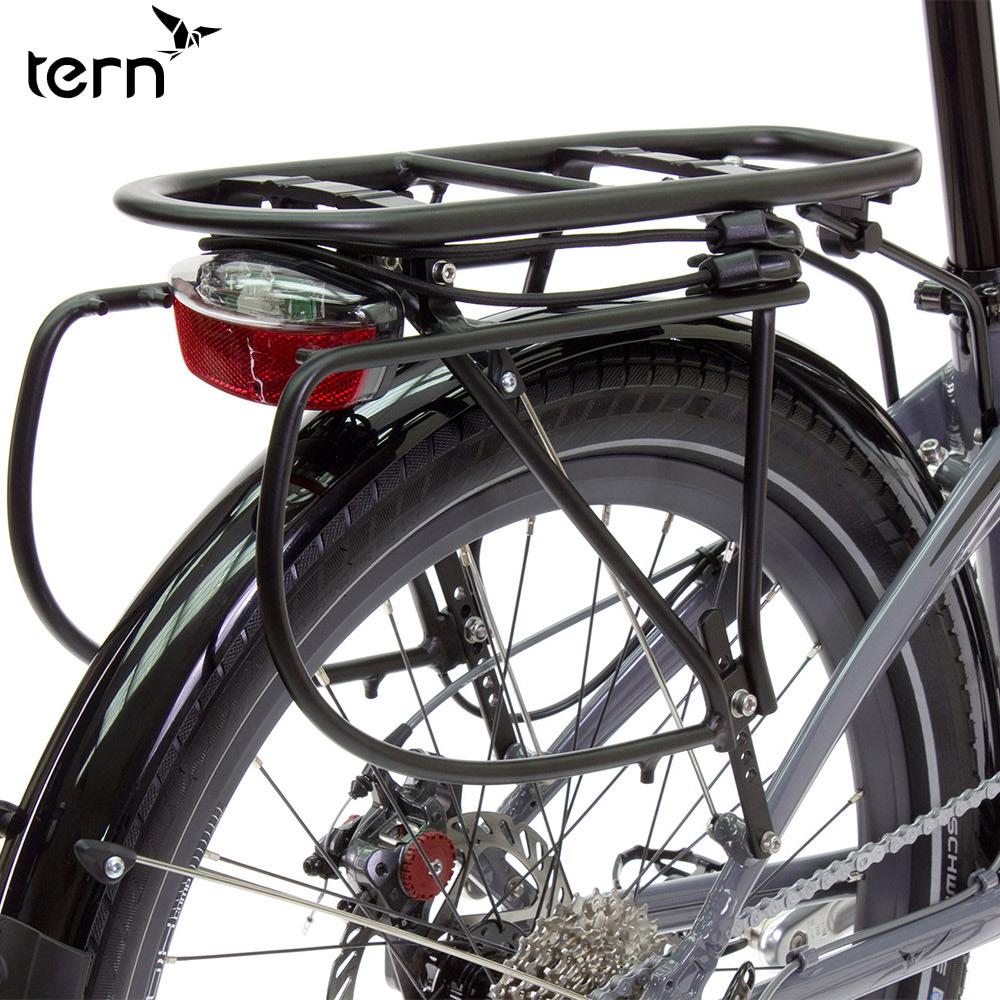 Tern Cargo Rack 鋁合金附綁繩專用後貨架-黑