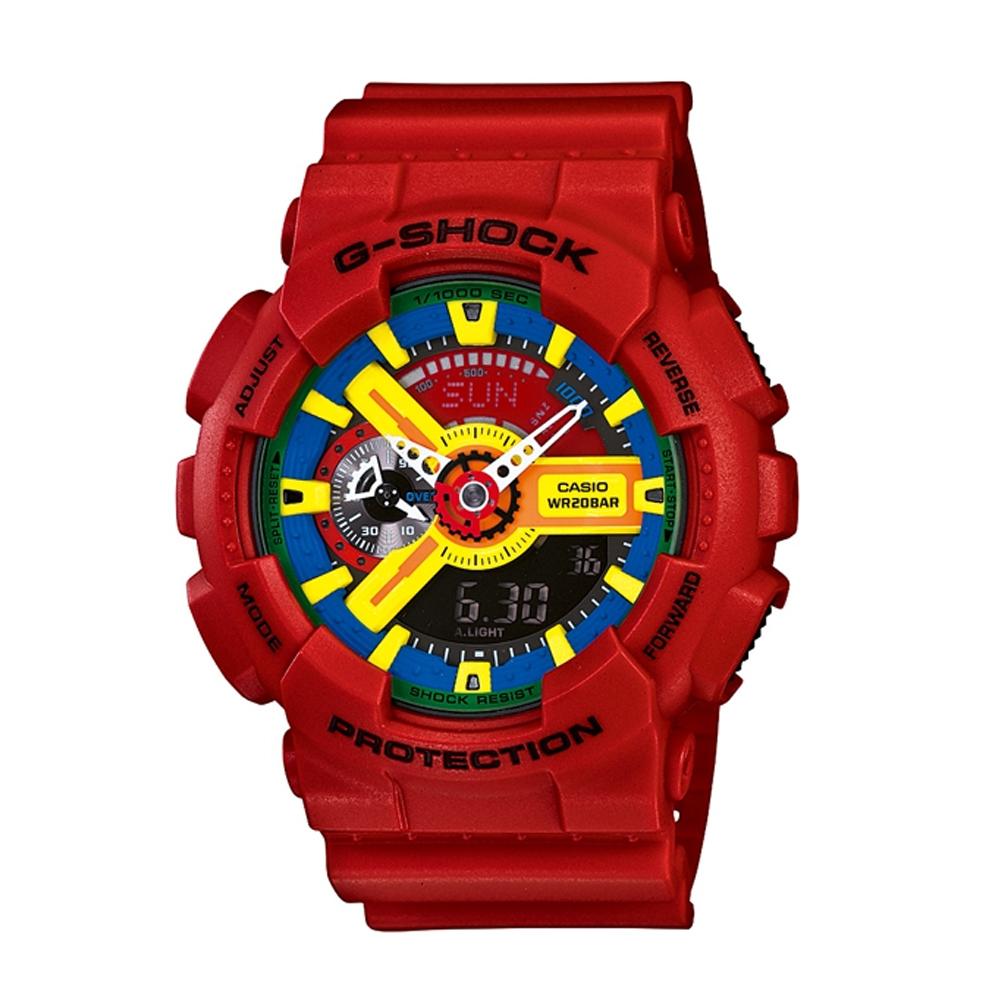 G-SHOCK 視覺層次新潮流時尚概念錶(GA-110FC-1A)-紅/51.2mm