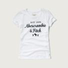 AF a&f Abercrombie & Fitch 女T恤 白色 0014
