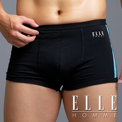 ELLE-HOMME-立體剪裁萊卡平口褲-超值3件組