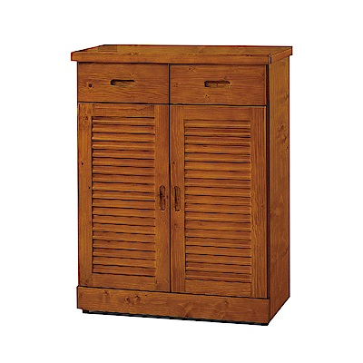 品家居  奧斯2.7尺實木鞋櫃(三色可選)-79.5x40x107cm免組