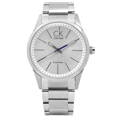 CK NewBold 現代風味簡約紳士不鏽鋼手錶 - 銀色 /41mm
