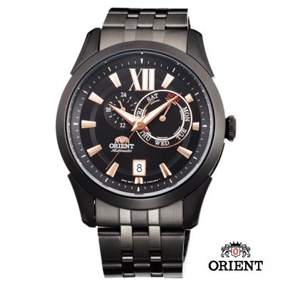 ORIENT 東方錶 DAY & DATE系列 日期星期機械錶-黑色/ 42 mm