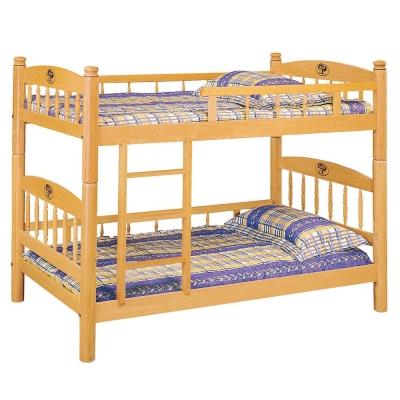 愛比家具 木白車枳3尺圓柱雙層床(不含床墊)