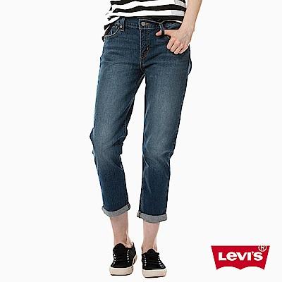 牛仔褲 女款 Boyfriend Fit 九分褲 彈性布料 - Levis