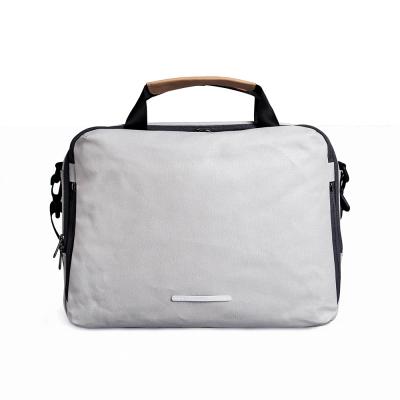 RAWROW-帆布系列-13吋三用簡約休閒包(手提/肩背/側背)-亮灰-RBF120GY