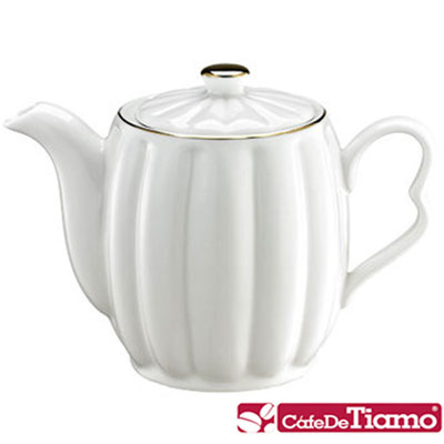 Tiamo 皇家描金陶瓷咖啡壺 500cc(HG3028)