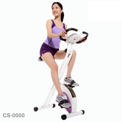 【超熱賣商品】(送小青蛙按摩墊)專業品牌 強生Chanson時尚磁控折收健身車CS-1080X
