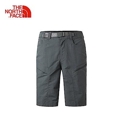 The North Face北面男款灰色防潑水戶外休閒短褲
