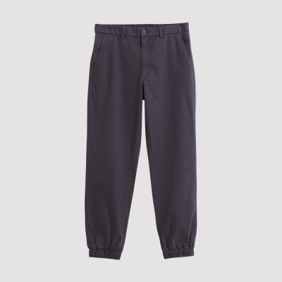Hang Ten - 男裝 - 基本純色開扣束口褲 - 灰