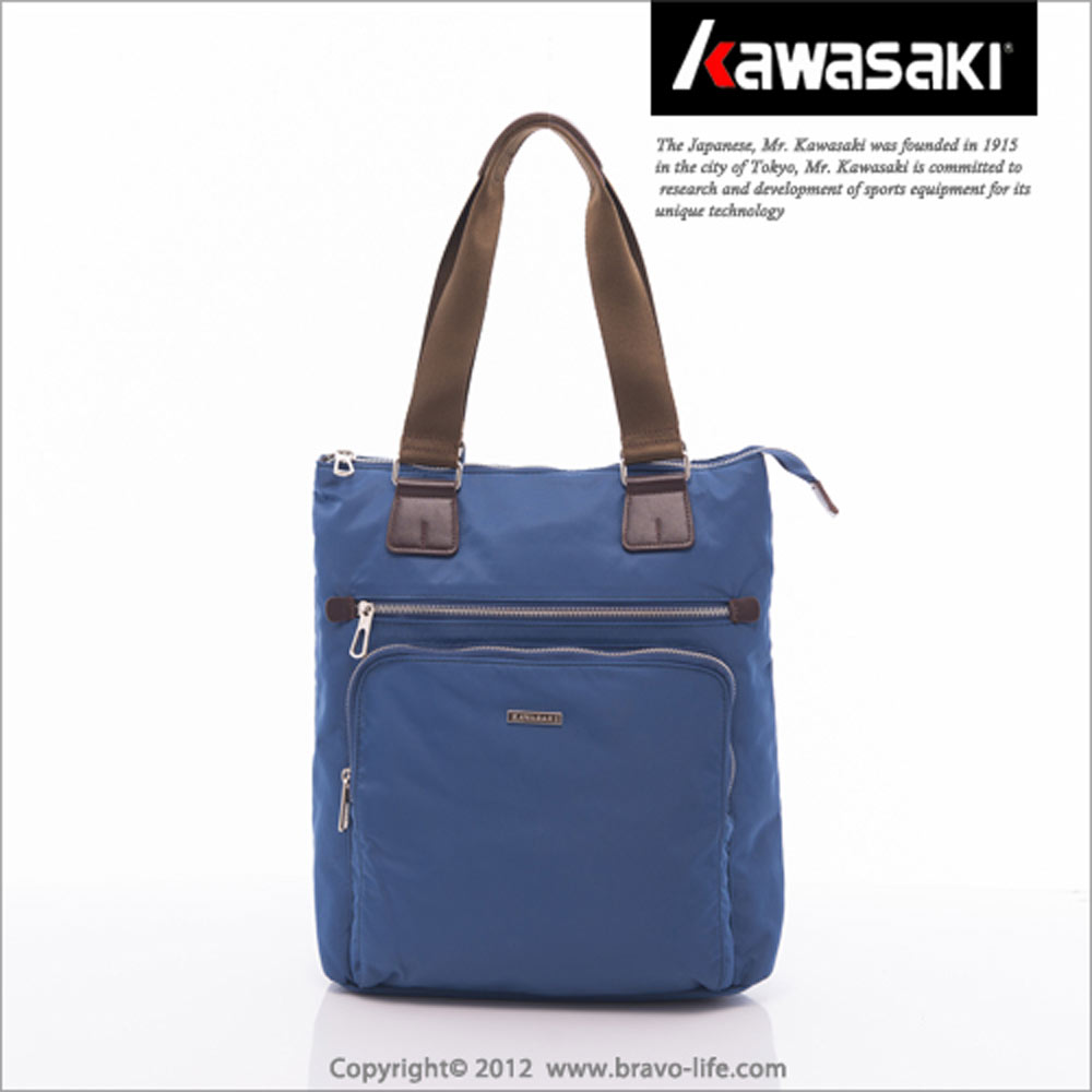 KAWASAKI 簡約實用。側背平板電腦托特包