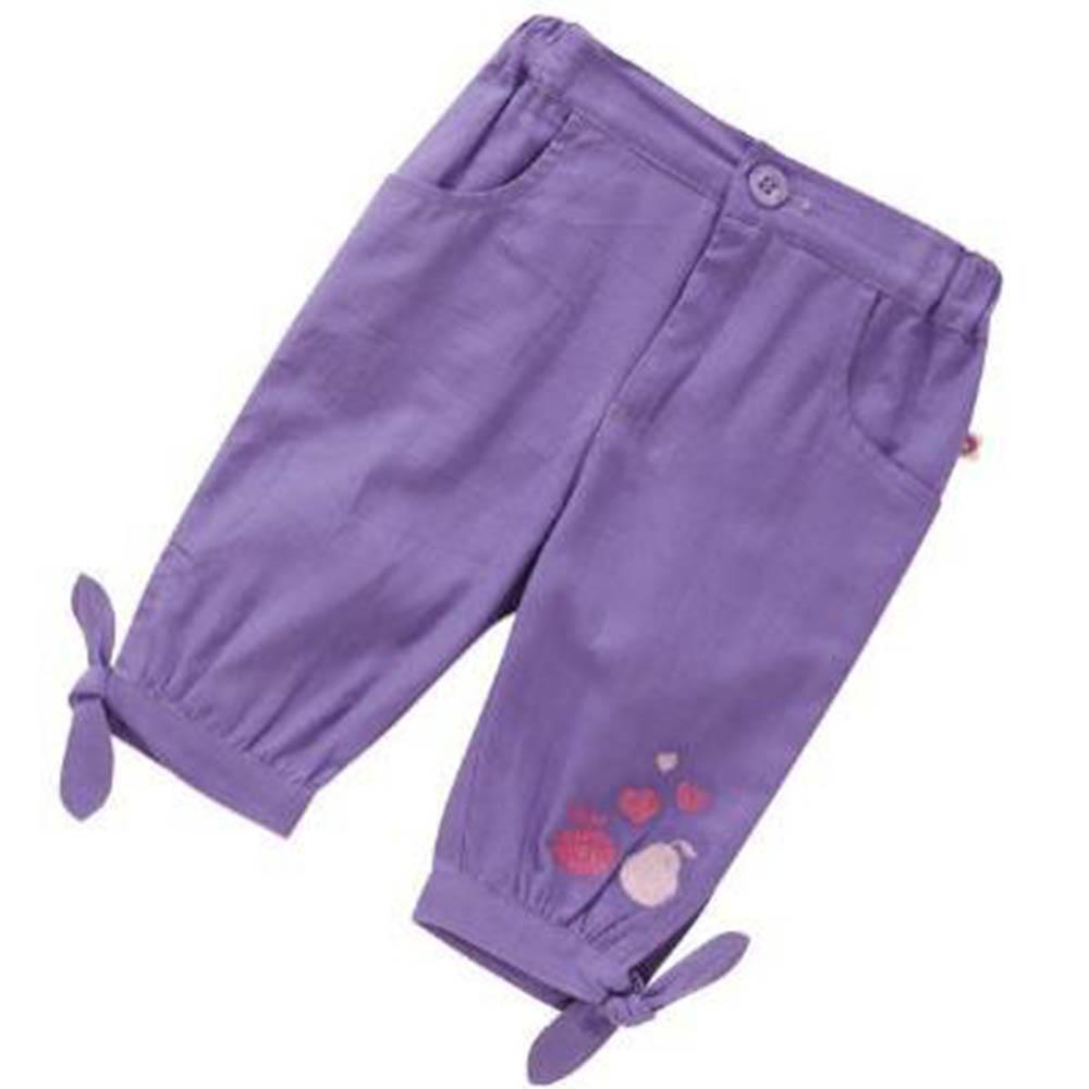 【Piccalilly】OCA18 有機棉粉紫水果夏天七分褲(12m-24m)