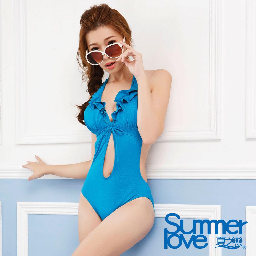 夏之戀SUMMER LOVE  時尚性感連身三角泳衣 (M~L)