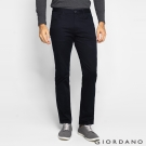 GIORDANO男裝素色彈力棉四層腰頭休閒褲-09 標志黑色