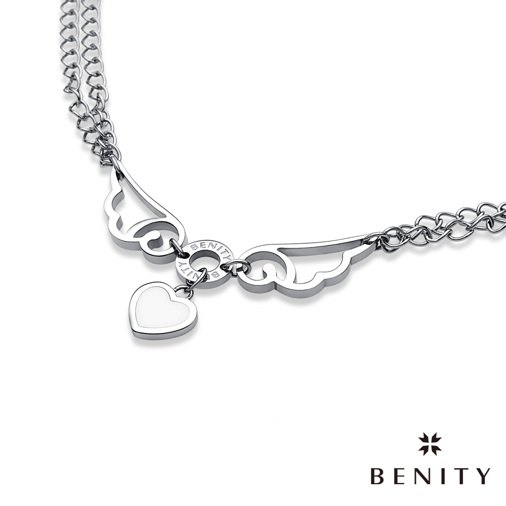 BENITY 守護天使 316白鋼/西德鋼 日系Zipper風格 女手鍊