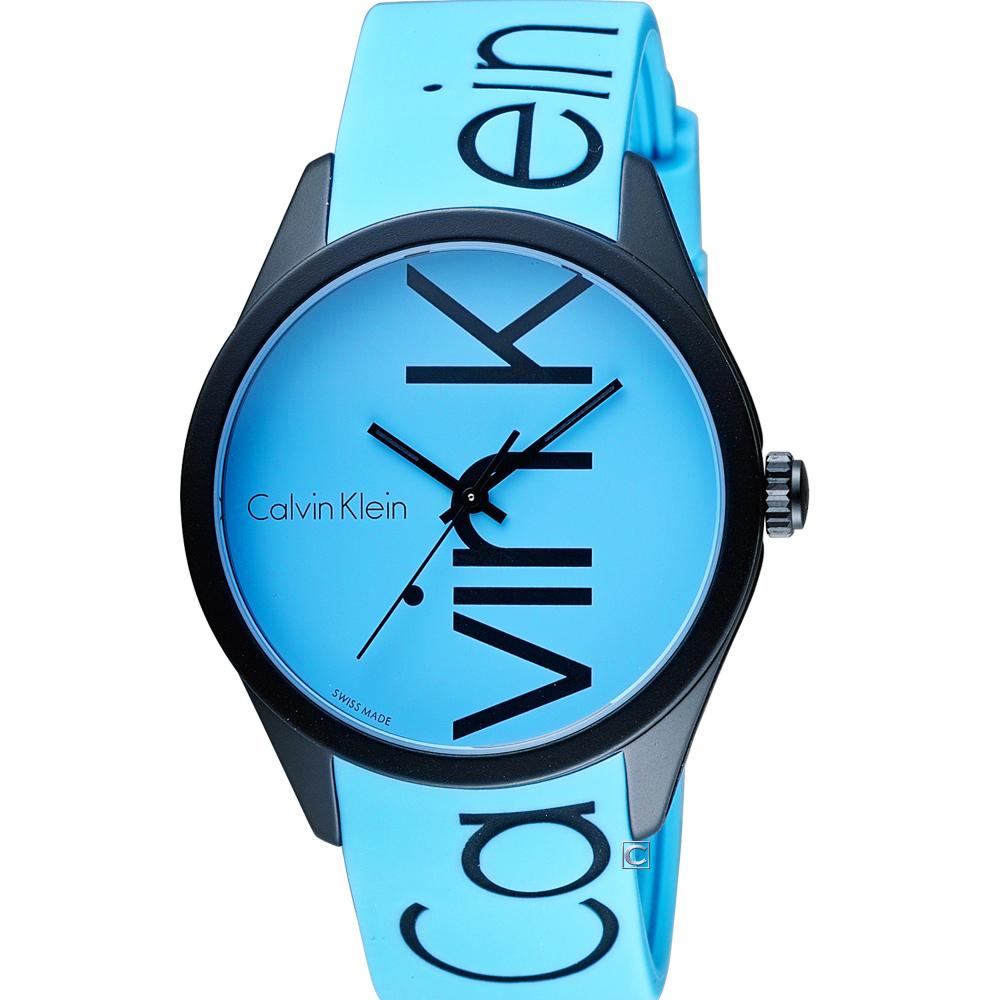 CK Calvin Klein K5E color 炫彩系列腕錶-藍色/40mm