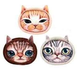 Marukan 貓臉印花床