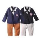 baby童衣 寶寶包屁衣 假三件連身衣 學院風紳士領帶50781