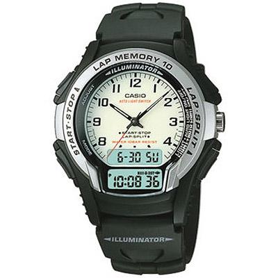 CASIO 運動武士指針雙顯錶(WS- 300 - 7 B)-白/ 40 mm
