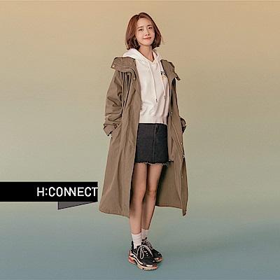 H:CONNECT 韓國品牌 女裝 - 不對稱襬短裙-黑