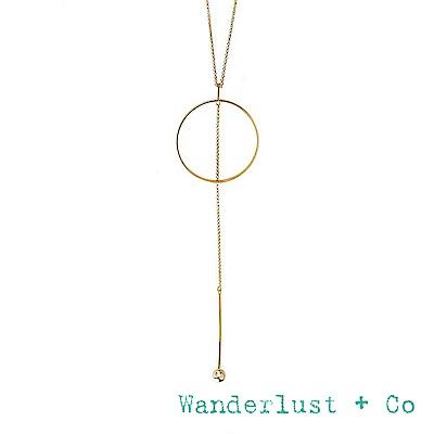 Wanderlust+Co 澳洲時尚品牌 金屬圓圈長項鍊