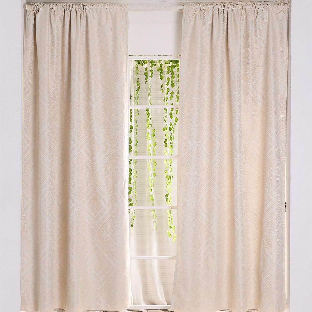 伊美居 - 聖伯多雙層遮光落地窗簾 135x240cm(2件)