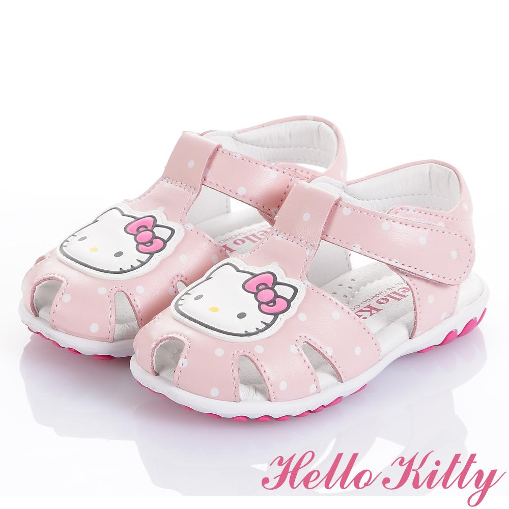 (獨賣款)HelloKitty手工頂級超纖涼鞋童鞋-粉(中小童)