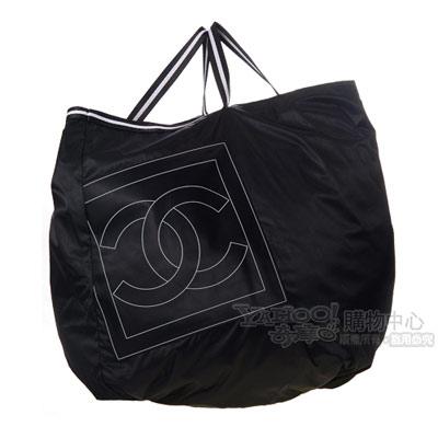 CHANEL SPORT系列LOGO尼龍手提包