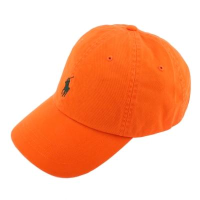 RALPH LAUREN POLO 素面小馬刺繡LOGO棒球帽-橙色